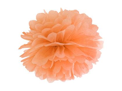 Zīdpapīra pompons, gaiši oranžā, 35 cm