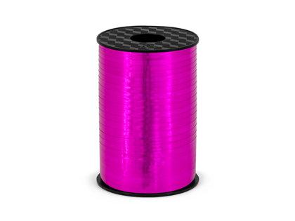 Plastikāta lente rozā krāsā, metāliska, 5 mm, 225 m