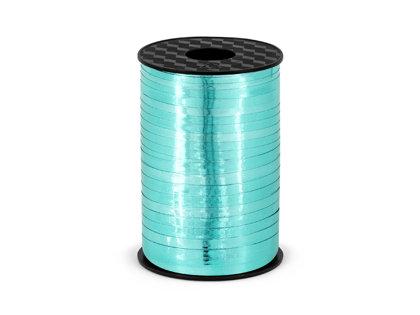 Plastikāta lente tirkīžā krāsā, metāliska, 5 mm, 225 m