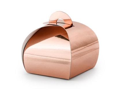 Rozā zelta papīra kastītes
