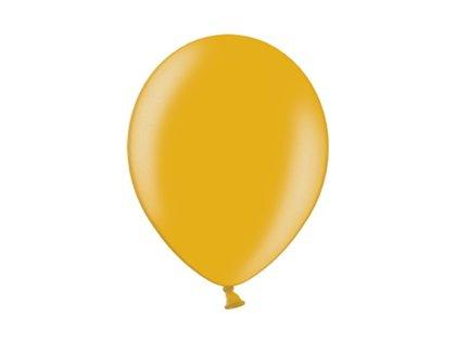30 cm perlamutra balons, zelta krāsa - 1 gb.