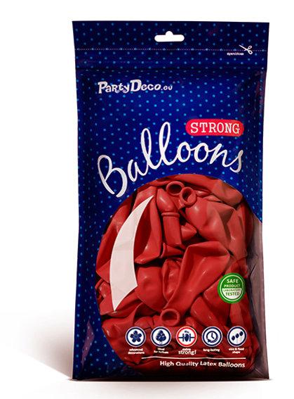 Balonu iepakojums, 100 gb., 30 cm, sarkanā krāsa