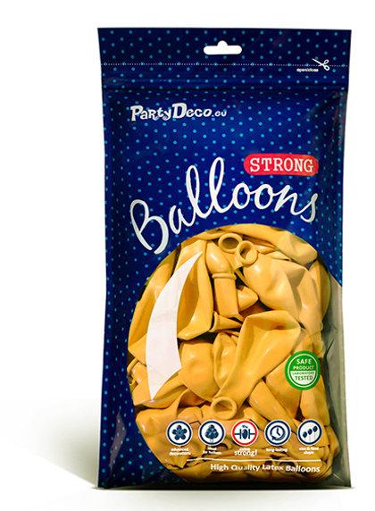 Balonu iepakojums, 100 gb., 30 cm, medus krāsa