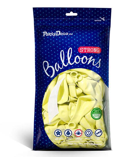 Balonu iepakojums, 100 gb., 30 cm, gaiši dzeltenā krāsa, pastelis