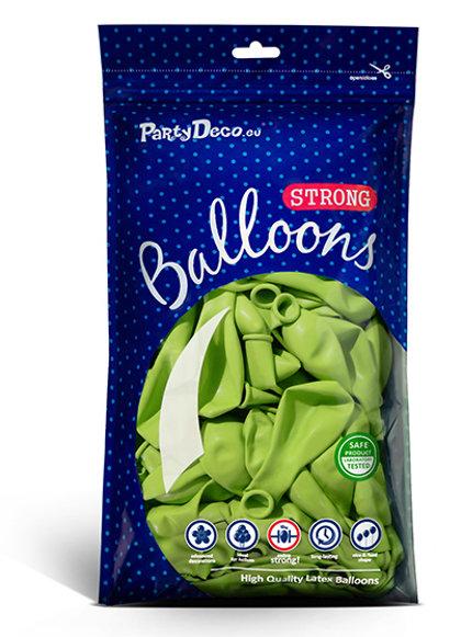 Perlamutra balonu iepakojums, 100 gb., 30 cm, salātkrāsa