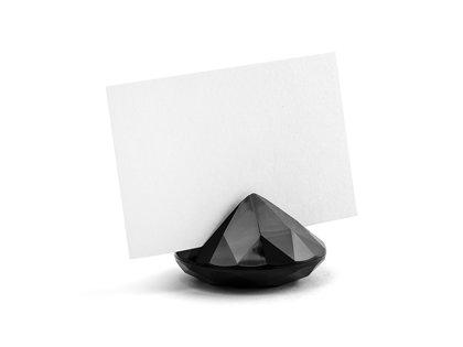 """Kartiņas turētājs """"Diamond"""", melns, 10 gb. komplekts"""