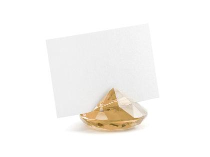 """Kartiņas turētājs """"Diamond"""", zelta, 10 gb. komplekts"""