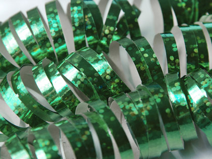 Hologrāfisks serpantīns zaļš
