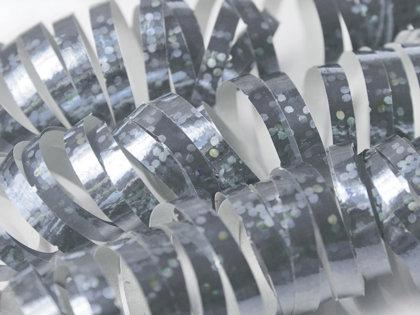 Hologrāfisks serpantīns, sudraba