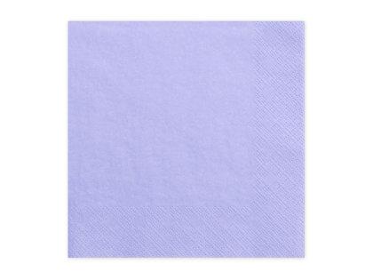Vienkrāsainas salvetes, lillā krāsa, 20 gb, 33x33 cm, 3 slāņi
