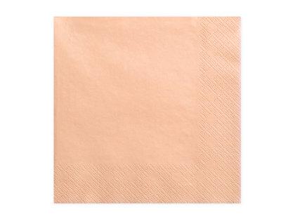 Vienkrāsainas salvetes, laša krāsa, 20 gb, 33x33 cm, 3 slāņi