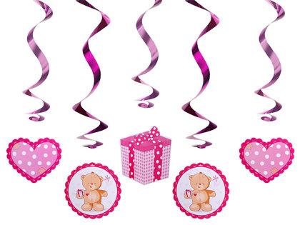 Piekaramais dekors Teddi lācēns, rozā, 60 cm