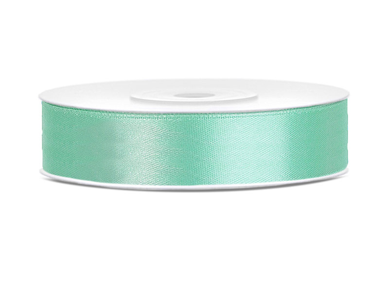Satīna lente, 12mm/25m, mint krāsa