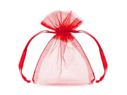 Organzas maisiņi, sarkanā krāsā, 20 gb