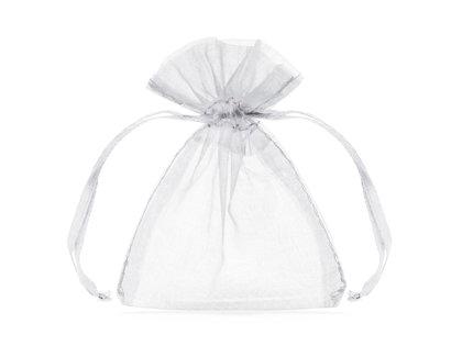Organzas maisiņi, baltā krāsa, 20 gb.