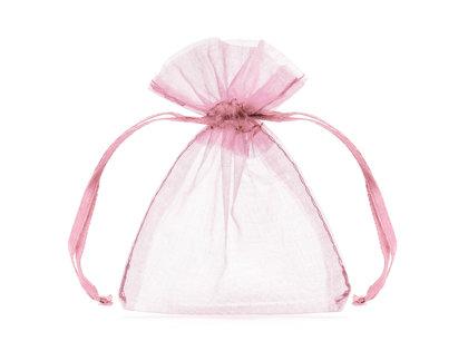 Organzas maisiņi, gaiši rozā krāsā, 20 gb