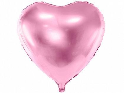 """Folija balons """"sirds"""", 61 cm, gaiši rozā krāsa"""
