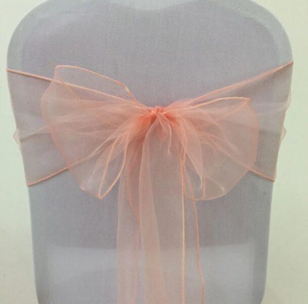 Krēslu lentes, persiku krāsā, 16 x 290 cm, 10 gb