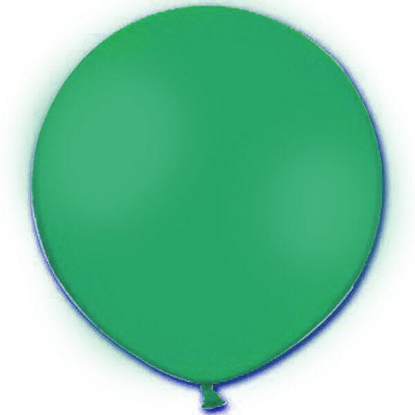 1 m balons, apaļš, zaļā krāsa - 1 gb.