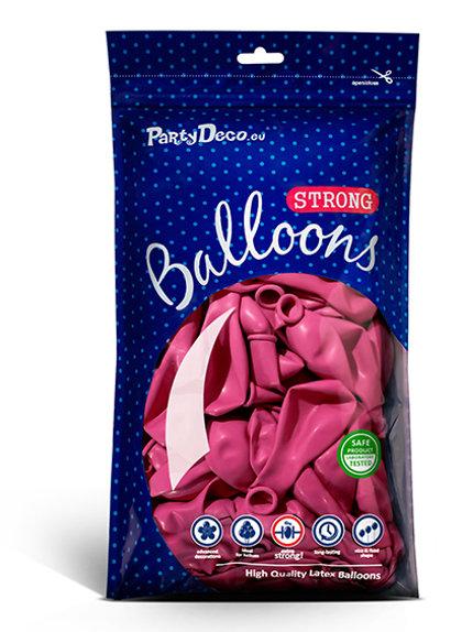 Perlamutra balonu iepakojums, 100 gb., 30 cm, spilgti rozā krāsa