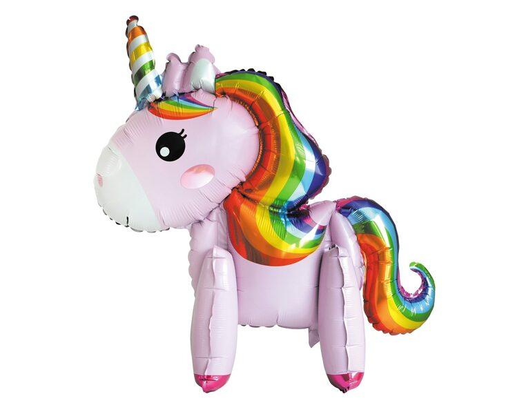 """Folija balons """"Vienradzis"""", stāvošais, rozā krāsa, 65 cm"""
