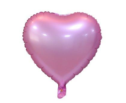 """Matēts folija balons """"sirds"""", 46 cm, gaiši rozā krāsa"""