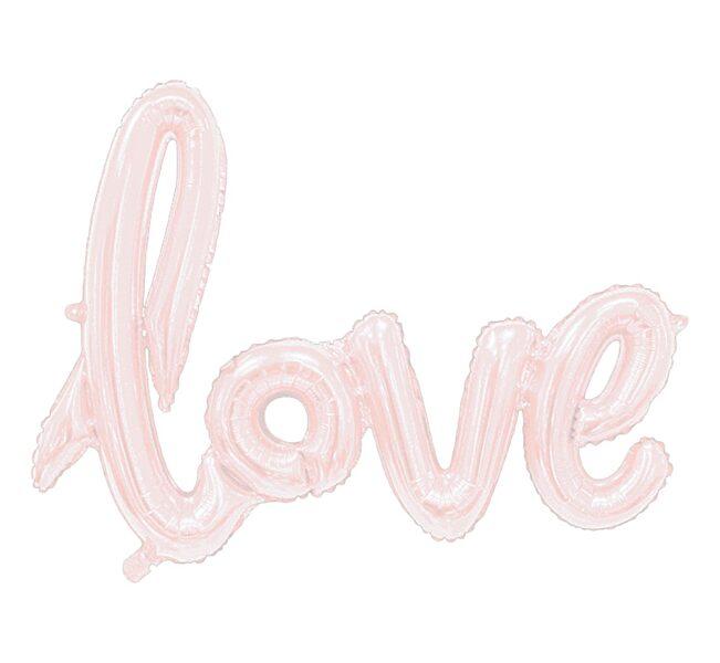 """Piepūšamais folija uzraksts """"love"""", rozā zelts, 68 cm"""
