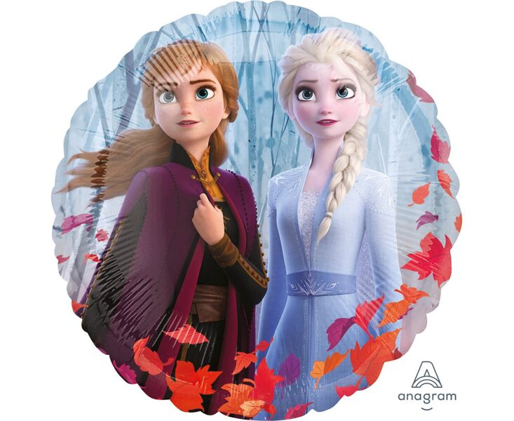 """Folija balons """"Frozen 2"""", apaļš, 43 cm"""