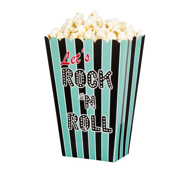 "Papīra popkorna trauki ""Let`s Rock`n Roll"""