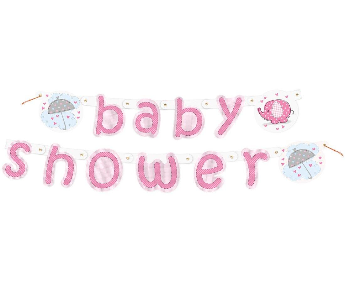 """Baneris """"Baby Shower"""", rozā"""
