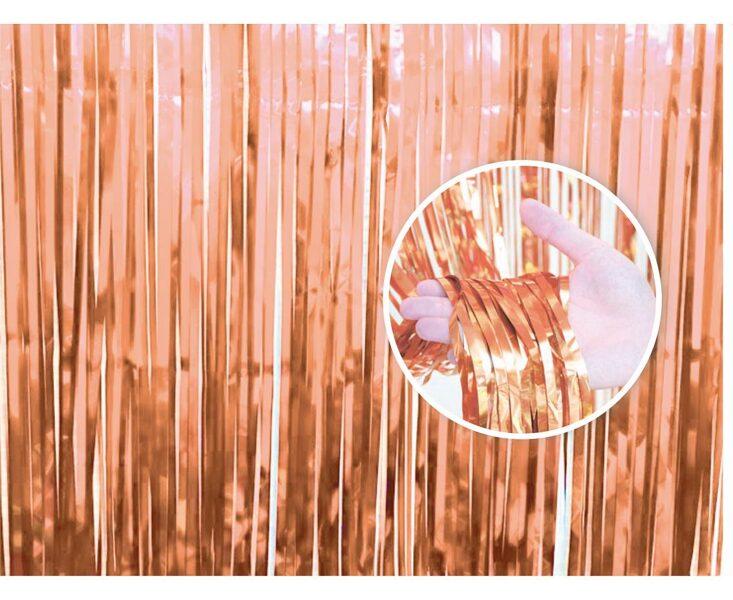 Lietutiņa aizkars, rozā zelts, 90x240 cm