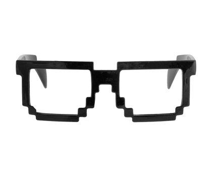 """Brilles """"Pikseļi"""", melnā krāsa"""