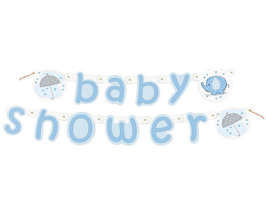 "Baneris ""Baby Shower"", gaiši zilā."