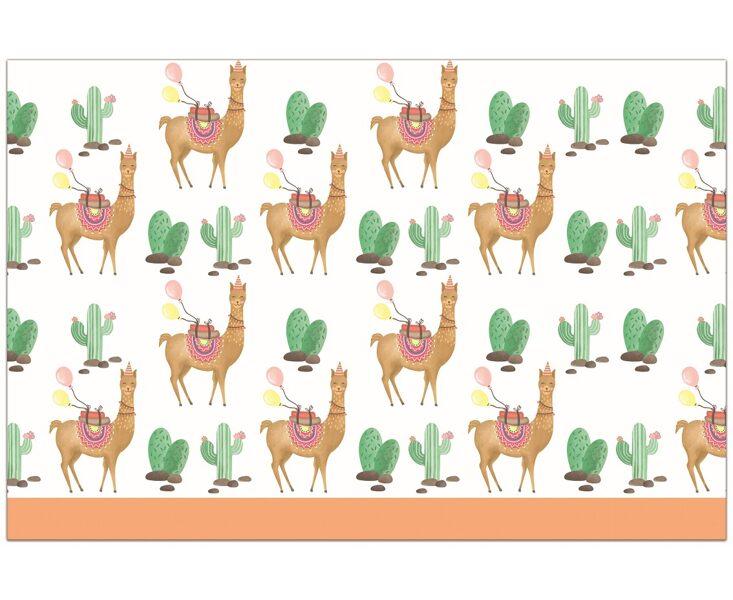 "Tematiskais galdauts ""Lama"", 120 x 180 cm"