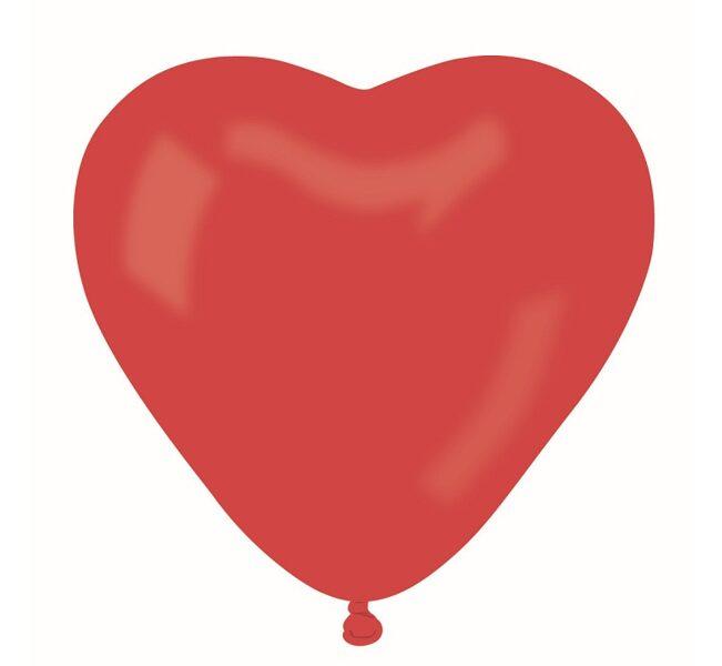 Sirds formas lateksa balons, sarkanā krāsa, 25 cm