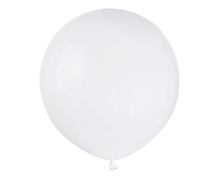 48 cm balons, baltā krāsa - 1 gb.