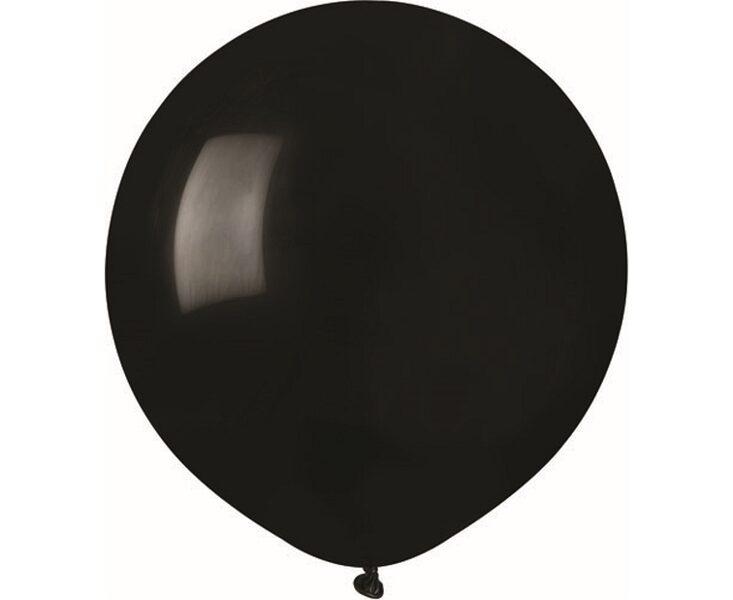 48 cm balons, melnā krāsa - 1 gb.