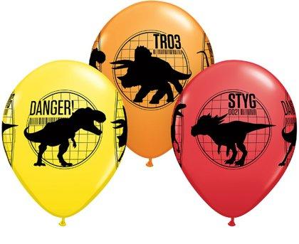 "28 cm lateksa balons ""Jurassic world"" - 1 gb."