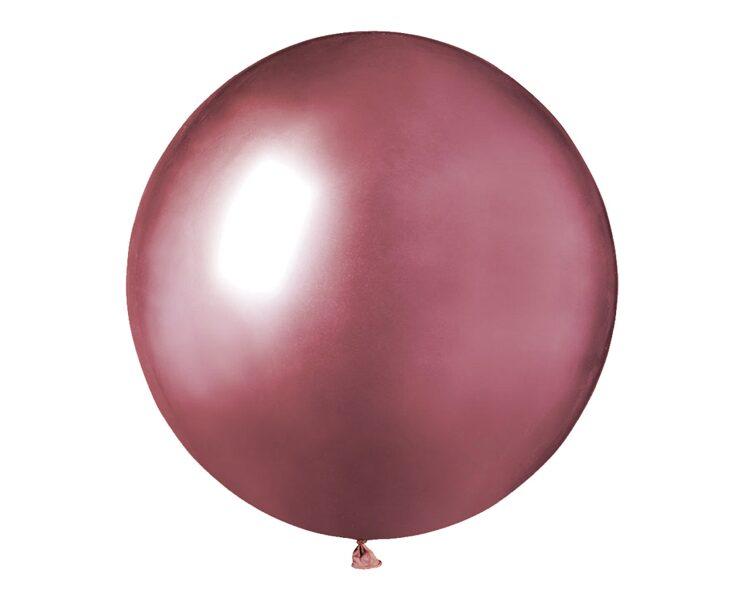 48 cm hromēts balons, rozā krāsa - 1 gb.