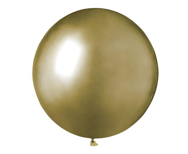 48 cm hromēts balons, zelta krāsa - 1 gb.