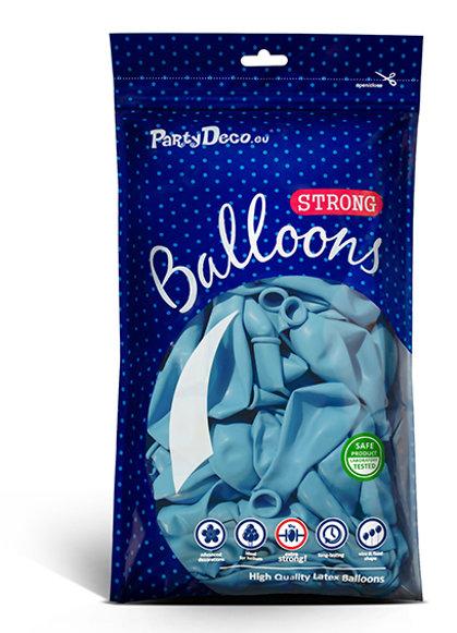Perlamutra balonu iepakojums, 100 gb., 30 cm, gaiši zilā krāsa