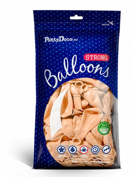 Balonu iepakojums, 100 gb., 30 cm, persiku krāsa, pastelis