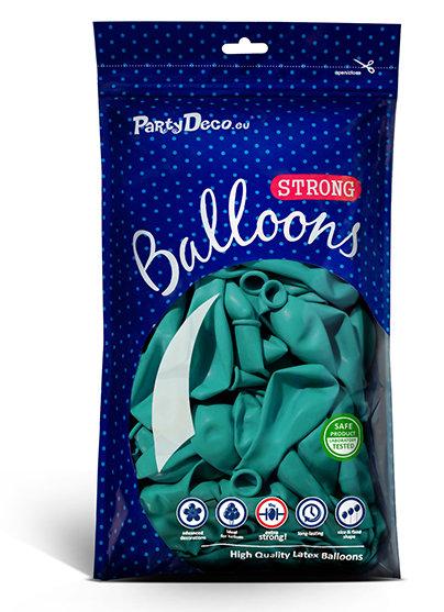 Balonu iepakojums, 100 gb., 30 cm, tirkīzā krāsa