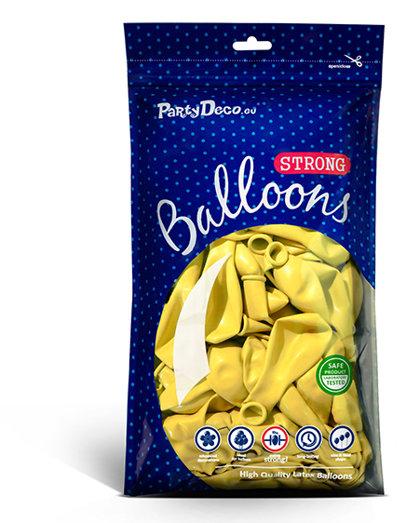 Balonu iepakojums, 100 gb., 30 cm, citronu krāsa