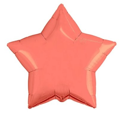 """Folija balons """"zvaigzne"""", 48 cm, koraļļu krāsa"""