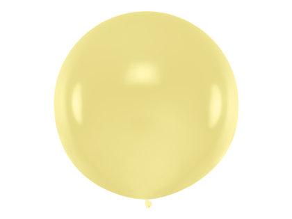 1 m balons, apaļš, krēmkrāsa - 1 gb.