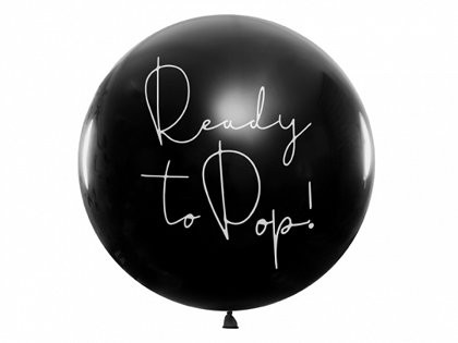 """Balons bērna dzimuma paziņošanai - """"Ready to Pop!"""" - metene - 1 m"""