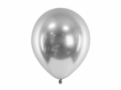 30 cm hromēts balons, sudraba krāsa - 1 gb.