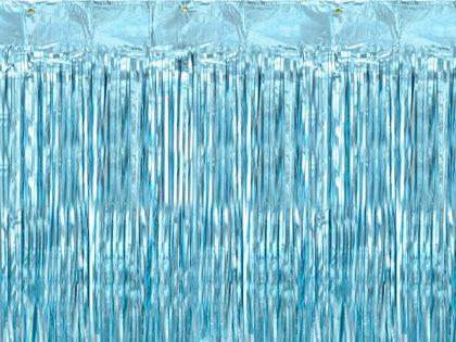 Lietutiņa aizkars, gaiši zils, 90x250 cm