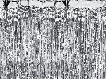 Lietutiņa aizkars, sudraba, 90x250 cm